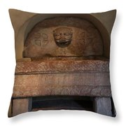 Sculpture At The Cloisters Throw Pillow