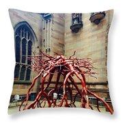 Sculpture At Trinity Church Throw Pillow