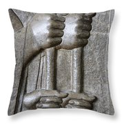 Sculpture From Persepolis In Iran Throw Pillow