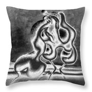 Sculpture Of Passion Throw Pillow