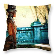 Sculpture Park In Nassau Bahamas Throw Pillow
