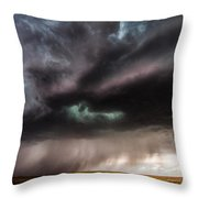Sculpture - Turquoise Colored Storm Over Kansas Plains Throw Pillow