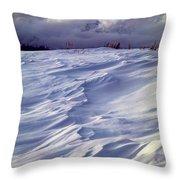 1m9347-sculptured Snow And Grand Teton Throw Pillow