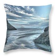 Sculptures On The Shore Throw Pillow