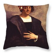 Scumbag Columbus Throw Pillow
