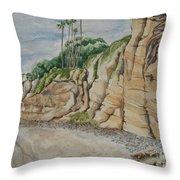 Sd Cliffs Throw Pillow