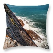 Sea And Cliff Throw Pillow