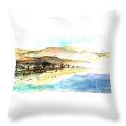 Sea And Mountains Throw Pillow