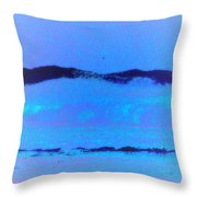 Sea At Its Bluest Throw Pillow