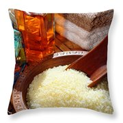 Sea Bath Salts Throw Pillow