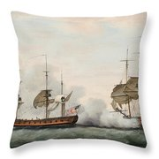 Sea Battle Throw Pillow