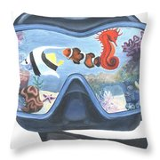 Sea Beneath The Surface Throw Pillow