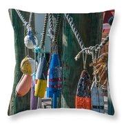 Sea Buoy's Throw Pillow