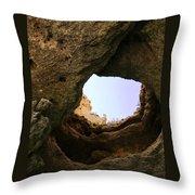 Sea Cave Escape Throw Pillow
