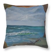 Sea Cave Throw Pillow
