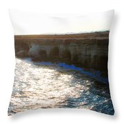 Sea Caves Throw Pillow