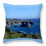 Sea Coast Of Northern California Throw Pillow