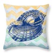 Sea Shell-c Throw Pillow