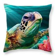 Sea Cruise Throw Pillow