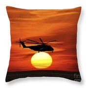 Sea Dragon Sunset Throw Pillow