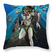 Sea Elf Throw Pillow