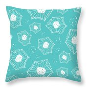 Sea Flower Throw Pillow by Susan Claire