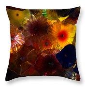 Sea Flowers And Mermaid Gardens Throw Pillow