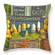 Sea Food Throw Pillow