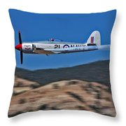 Sea Fury Fly-by Throw Pillow
