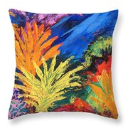 Sea Garden Throw Pillow