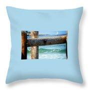 Sea Gate Throw Pillow