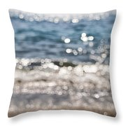 Sea Glitter Throw Pillow