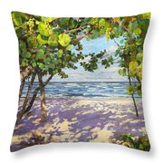 Sea Grape Delight Throw Pillow