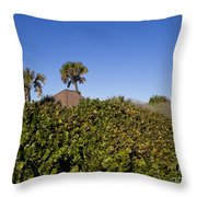 Sea Grapes On A Florida Sand Dune Throw Pillow