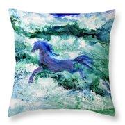 Sea Horses Throw Pillow