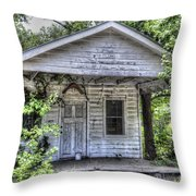 Sea Island Shack Throw Pillow