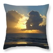Sea Island Sun Rays Throw Pillow