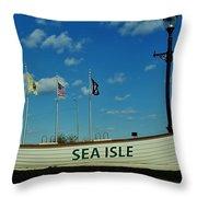 Sea Isle City Throw Pillow