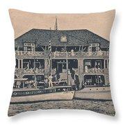 Sea Isle City Yacht Club  Throw Pillow