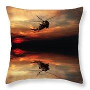 Sea King Sunset  Throw Pillow