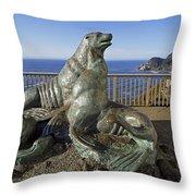 Sea Lion Caves - Oregon Throw Pillow
