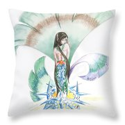 Sea Maiden Throw Pillow