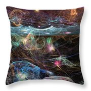 Sea Monsters And Horror Fish  Throw Pillow