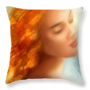 Sea Nymph Dream Throw Pillow by Michael Rock