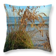 Sea Oats 1 Throw Pillow