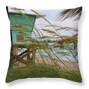 Sea Oats And The Tower Throw Pillow