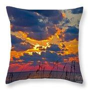 Sea Oats Silhouette Throw Pillow