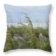 Sea Oats Up Close Throw Pillow
