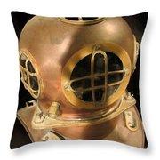 Sea - Ocean - Diver Throw Pillow