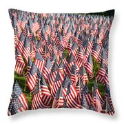 Sea Of Flags Throw Pillow